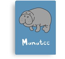 M for Manatee Canvas Print