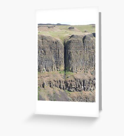 Palouse Falls Series - Crack in the earth! Greeting Card