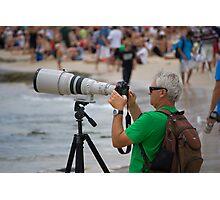 Photographer - Quicksilver Pro - Snapper Rocks - Australia Photographic Print