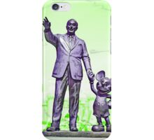 Walt and Mickey iPhone Cases and Skins Green iPhone Case/Skin