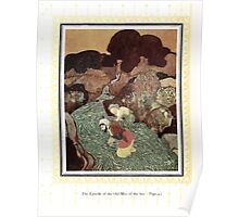 Sinbad the Sailor and other Tales of the Arabian Nights - 1914 - Edmund Dulac - 0058 - The Episode of the Old Man of the Sea Poster