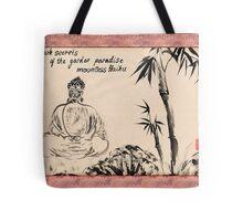 Dark Secrets (garden Buddha). Haiga Tote Bag