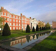 Early morning, The King's House, Peninsula Barracks, Winchester, southern England by Philip Mitchell