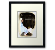 Mary Ponders Framed Print