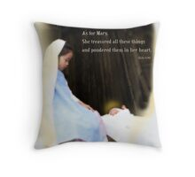 Mary Ponders Throw Pillow