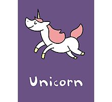 U is for Unicorn Photographic Print