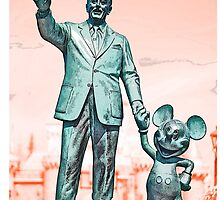 Walt and Mickey iPhone Cases and Skins Red by kellyblackie