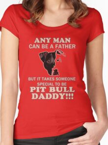 pit bull daddy Women's Fitted Scoop T-Shirt