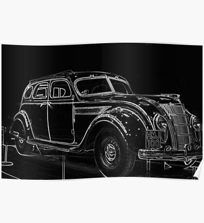 Old Car (Standard Eight) Poster