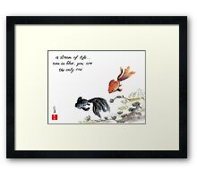 A stream of Life ... Haiga Framed Print