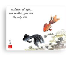 A stream of Life ... Haiga Canvas Print