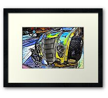 Redfield Fractalius Old Car Framed Print