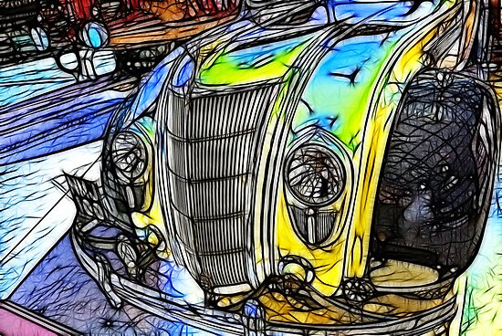 Redfield Fractalius Old Car by Trevor Kersley