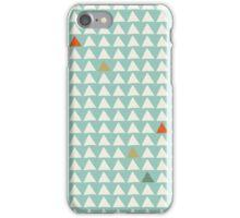 Triangles - Mint Tangerine iPhone Case/Skin