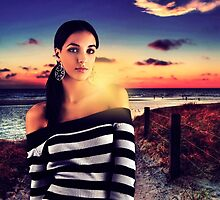 Fashion Sunset Fine Art Print by stockfineart