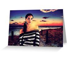 Fashion Sunset Fine Art Print Greeting Card