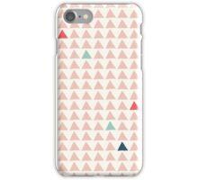 Triangles - Pink Tangerine iPhone Case/Skin