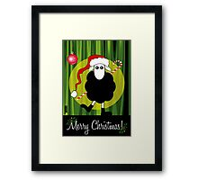 Merry Christmas Black Sheep Framed Print