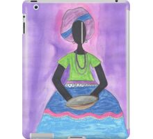 Baiana from Brazil holding a plate iPad Case/Skin