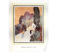 Sinbad the Sailor and other Tales of the Arabian Nights - 1914 - Edmund Dulac - 0075 - Aladdin finds the Magic Lamp Poster