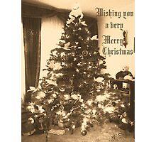Wishing You A Merry Christmas Photographic Print