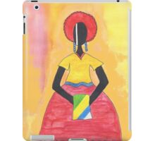 Baiana from Brazil holding a flag iPad Case/Skin