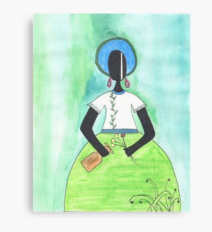 Baiana from Brazil holding a vase Canvas Print