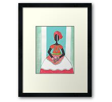 Baiana from Brazil holding flowers Framed Print