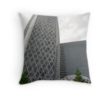 Tokyo Office Buildings  Throw Pillow