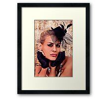 Blonde Girl With Hat Fine Art Print Framed Print