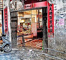 fruit vendor's shop-Nanchang by marcwellman2000