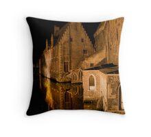 Old House (Brugge, Belgium)  Throw Pillow