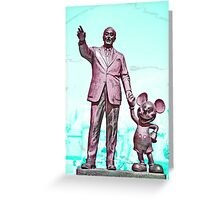 Walt and Mickey Samsung Galaxy Cases and Skins Aqua Greeting Card