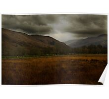 Stormy day - Trossachs, Perthshire Poster