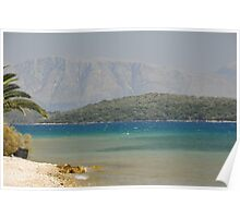 Sea view Greece Poster