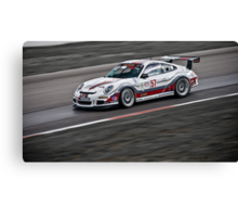 White Photography Transportation Racing Porsche 911 GT3 Challenge Intense Canvas Print