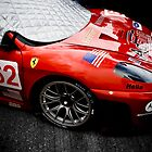 Red Photography Automotive Ferrari F430GT Race Car Grid by LongbowX