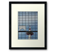 Kyoto Tower Reflected  Framed Print