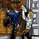 opening the gate - by PieterDC
