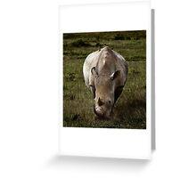 Rhino - Masai Mara Greeting Card