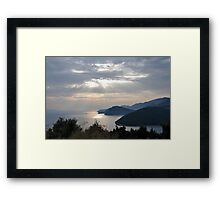 Sunset whith seaview Framed Print