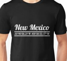 New Mexico - State Coordinates Unisex T-Shirt