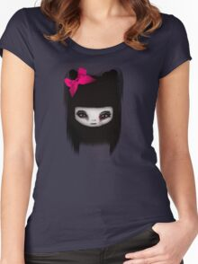 Little Scary Doll Updated Women's Fitted Scoop T-Shirt