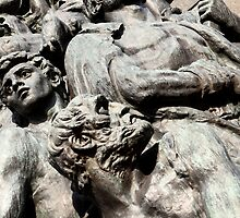 Warsaw Poland - Monument to the Heroes of the Ghetto by RedSteve