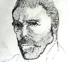 Portrait of Vincent ( Homage to Vincent VanGogh ) by Richard  Tuvey