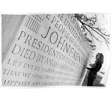 John F Kennedy Memorial at Runnymede Surrey UK Poster