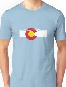 Rocky Mountains - Colorado Flag Unisex T-Shirt
