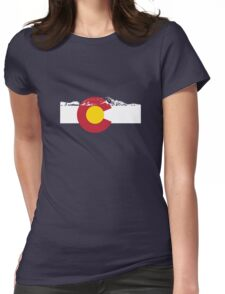 Rocky Mountains - Colorado Flag Womens Fitted T-Shirt