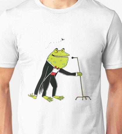 Frog Crooner Unisex T-Shirt