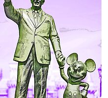 Walt and Mickey Samsung Galaxy Cases and Skins Purple by kellyblackie